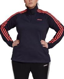Essentials Women's 3 Stripe Fleece Quarter-Zip Top