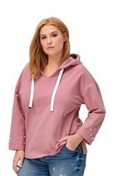 ellos Women's Plus Size Pearl Trim Sweatshirt