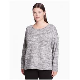Calvin Klein Performance Women's Plus Size Sweatshirt Grey Size Extra Large