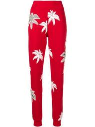printed slim trousers