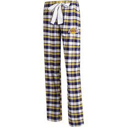 Los Angeles Lakers Concepts Sport Women's Plus Size Piedmont Flannel Sleep Pants - Purple/Gold