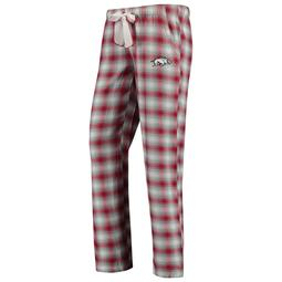 Arkansas Razorbacks Concepts Sport Women's Plus Size Forge Flannel Pants - Cardinal/Gray