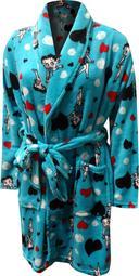 Betty Boop Women's Betty Boop Turquoise Plus Size Super Soft Plush Robe