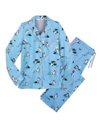 Disney Jasmine Long Sleeve Women's Coat Pajama Set, Jasmine Navy, Size: XS