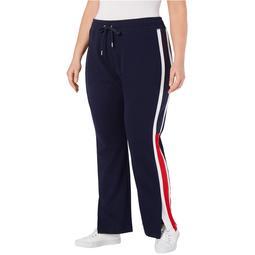 Tommy Hilfiger Womens Flag-Logo Casual Sweatpants, Blue, 3X