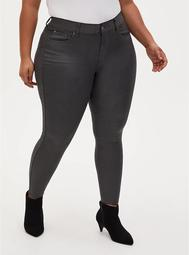 Bombshell Skinny Jean - Coated Grey