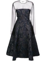 silk A-line midi dress