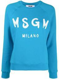 logo-print raglan sweatshirt