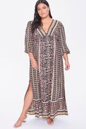 Plus Size Ornate Maxi Dress