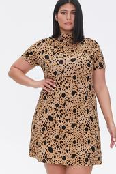 Plus Size Spotted Bodycon Dress