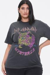 Plus Size Def Leppard Graphic Tee