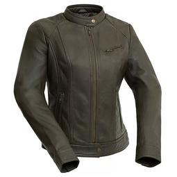 Women's Whet Blu Leather Moto Jacket