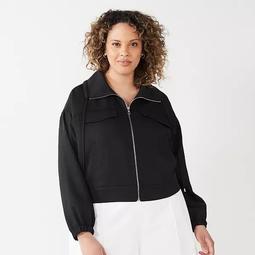 Plus Size Nine West Soft Utility Jacket