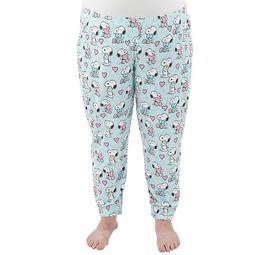 Plus Size Nite Nite by Munki Munki Snoopy Banded Bottom Pajama Pants
