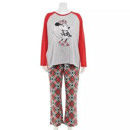 Disney's Minnie Mouse Plus Size Plaid Top & Bottoms Pajama Set by Jammies For Your Families®