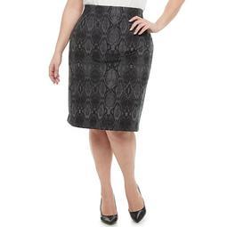 Plus Size EVRI™ Knit Pencil Skirt