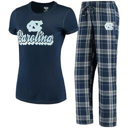 Women's Concepts Sport Navy/Gray North Carolina Tar Heels Ethos T-Shirt & Pants Sleep Set