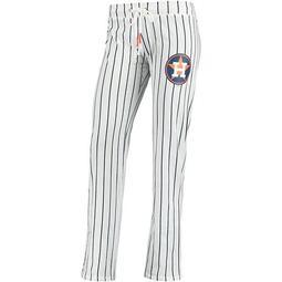 Women's Concepts Sport White Houston Astros Vigor Pinstripe Sleep Pant