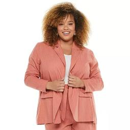 Plus Size Now + Gen by Sonoma Goods For Life® Linen-Blend Jacket
