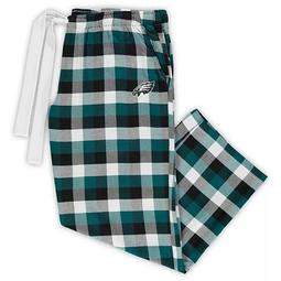 Women's Concepts Sport Midnight Green/Black Philadelphia Eagles Plus Size Breakout Flannel Pants