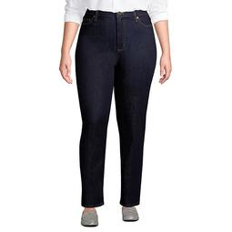 Plus Size Lands' End High Rise Straight-Leg Ankle Jeans