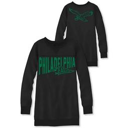 Women's Junk Food Black Philadelphia Eagles Dual Threat Fleece Dress