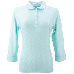 Plus Size Nancy Lopez Textured Polo