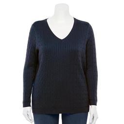 Plus Size Croft & Barrow® The Classic V-Neck Sweater