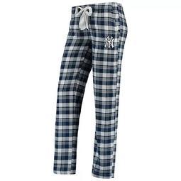 Women's Concepts Sport Navy New York Yankees Piedmont Flannel Pants