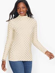 Cotton Turtleneck - Charming Dot
