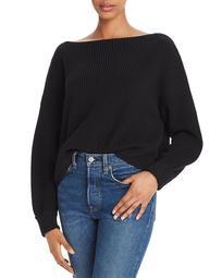 Millie Mozart Knits Cotton Boat Neck Sweater