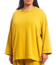 Plus Size Alden Bamboo French Terry Long Sleeve Sleeve Tunic