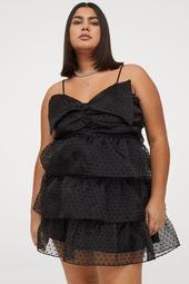 H&M+ Bow-detail Flounced Dress