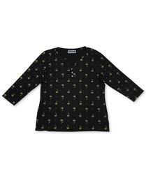 Plus Size Lotus Zen Henley Top, Created for Macy's