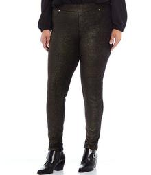 MICHAEL Michael Kors Plus Size Metallic Foil Pull-On Legging