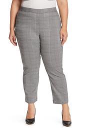 Plaid Crop Pull-On Pants
