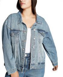 Trendy Plus Size Boyfriend Denim Jacket