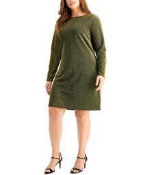 Plus Size Cowl-Back Dress