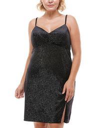 Trendy Plus Size Cross-Back Shimmer Bodycon Dress