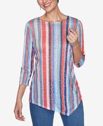 Plus Sizes Women's Candy Stripe Top
