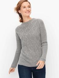 Cashmere Textured Mockneck Sweater