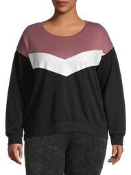Plus Colorblock Sweatshirt