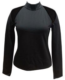 INC Plus Size Cold-Shoulder Mock-Neck Top, Created for Macy's