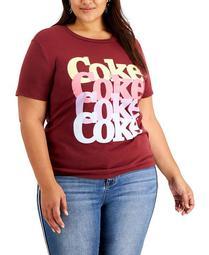 Trendy Plus Size Coke Stacked Logo T-Shirt