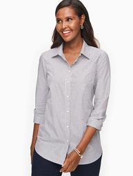 Sparkle Stripe Button Front Shirt