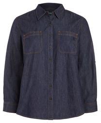 Plus-Size Denim Shirt