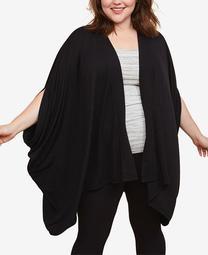 Plus Size Draped Nursing Cardigan