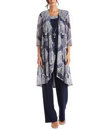 Plus Size 3-Pc. Jacket, Top & Pants Set