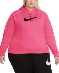 Plus Size Swoosh Logo Fleece Hoodie