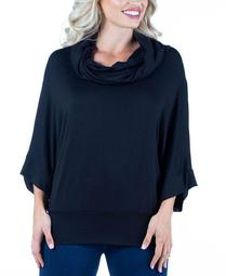 Women's Plus Oversized Cowl Neck Tunic Top